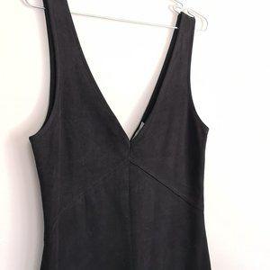 Artizia Wilfred Free Black Suede Dress